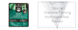 Boscia – Wakame Firming Hydrogel Mask Review